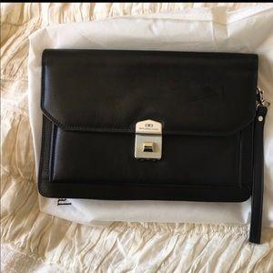 Balenciaga envelope lock clutch silver hardware